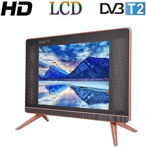 Tosuny 17 Pulgadas Televisor LCD HD DVB-T2, Resolución 1366x768 TV Portátil con Altavoz Bass, HDMI, USB, VGA, TV/AV Puerto (Enchufe UE): Amazon.es: Electrónica