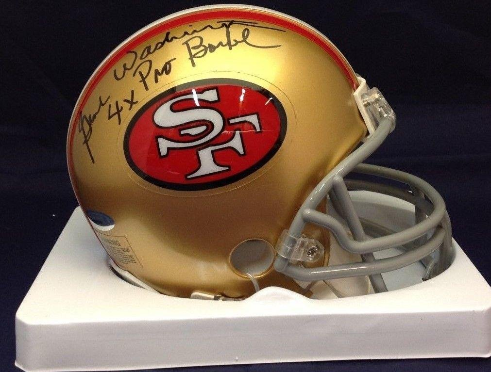 Amazon.com  Autographed Gene Washington Mini Helmet - San Francisco w Insc  4x PB  7606279 - Tristar Productions Certified  Sports Collectibles 077c5f16b598f