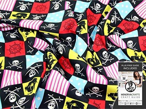 Retales de popelín de algodón tela pirata - Ropa blanca de la ...