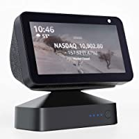 GGMM ES5 Battery Base for Show 5 (1st & 2nd Gen), Wireless Battery Stand to Make Smart Speaker Portable, Adjustable Battery Charger, Black (Show 5 Sold Separately)
