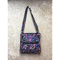 Waverly Womens Printed Quilt Bag Collection X-Body Multi Paisley Handbag