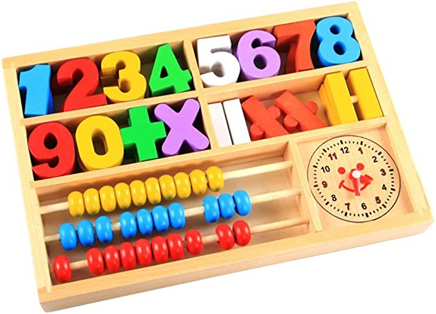 Wooden Math Counting Game Sticks Kids Educational Learning Numbers Abacus Toy CH