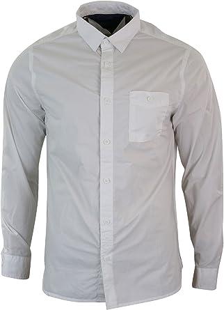 Camisa de Algodon para Caballero, con Botones, en Azul y ...