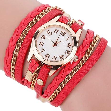 2ef38bf8281e Dosige Pulsera del Relojes Retro Estilo Romano Cuarzo Reloj de Pulsera  Mujeres Accesorios de Moda(