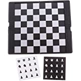 MagiDeal Foldable Mini Magnetic Chess Set Portable Wallet Pocket Chess Board Games with 32 Chess Pieces