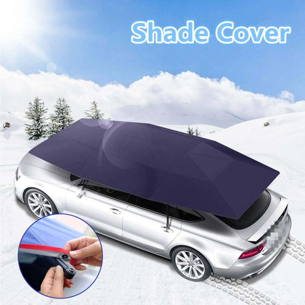 dunkelblau 210cm Ajboy Auto Sonnenschutz Abdeckung Auto Markise 4x2,1 m Wasserdicht Auto Regenschirm Zelt Sonnenschutz Sonnenschutz Universal 400