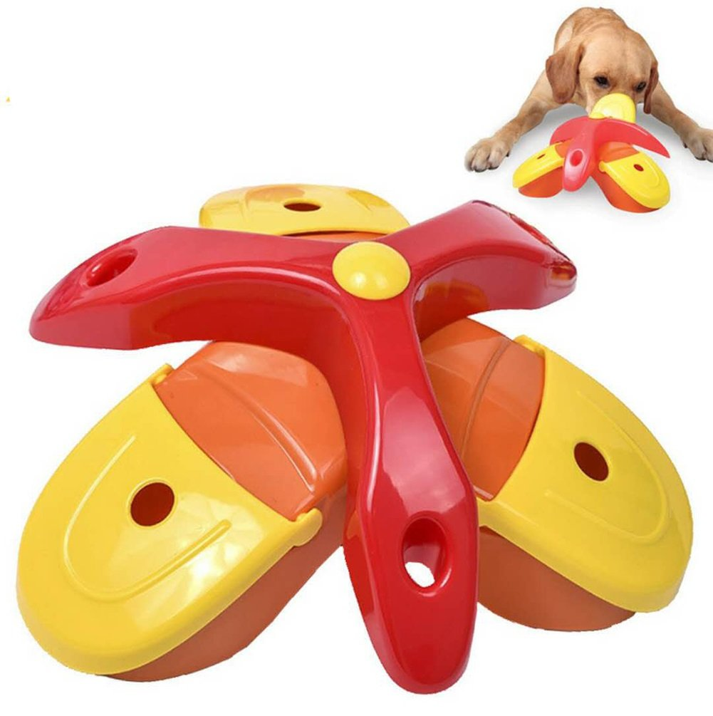 orange Pet Slow Food Bowl,Triangle Box Dog Cat Food & Water Bowl Pet Diet Interactive Feeder Bowl Digestion Tableware Fun Plate Treasure Hunt Food Utensils Dog Bowl (color   orange)