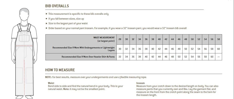braun R01BRN Arbeitshose Gr/ö/ße 34 // 32 Carhartt Workwear Latzhose Duck Bib Overall