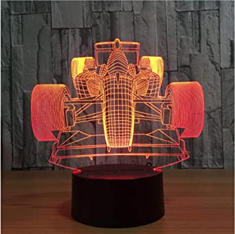 Regalo de navidad Racing Car 3D Novedad Light lampada led Lámpara ...