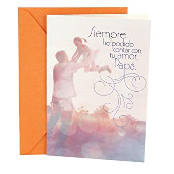 Hallmark Vida Spanish Birthday Greeting Card For Father From Daughter Dad Tutu Girl Amazoncouk Office Products