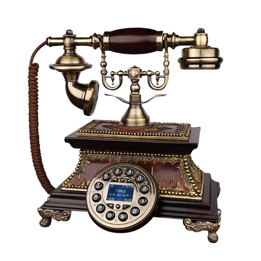アンティーク装飾電話、携帯電話固定電話ホームクリエイティブオフィス固定ヨーロッパアンティークレトロ樹脂電話25 * 24.5 * 26 cm、から選択するスタイルのバラエティ (三 : Double bracket-a) B019MKJX6U Single bracket-a