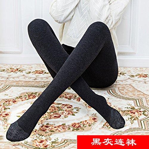 GBHNJ Leggings Plus Épais Collants Transparent Coton Taille Haute Peut Se Porter À L'Extérieur Women'S L'Automne Et L'Hiver Dentelle Thermique Gray F(Poids Approprié 80-130 Catty)