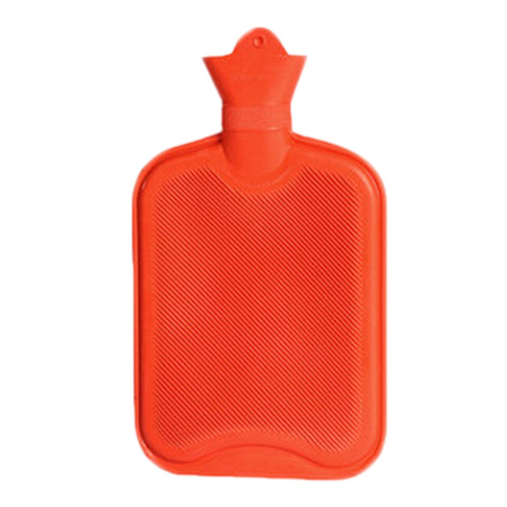 1 Liters Natural Rubber Hot Water Bottle, Red