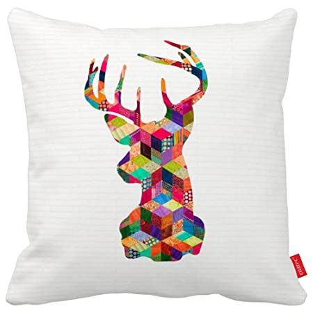 graphic regarding Deer Silhouette Printable named Cazzpc Cushion Address Reindeer Deer thoughts Silhouette Printable
