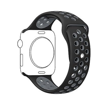 Repuesto Apple Watch Banda, Nike + suave silicona deporte pulsera correa de repuesto para iWatch 38 mm serie 1 Serie 2