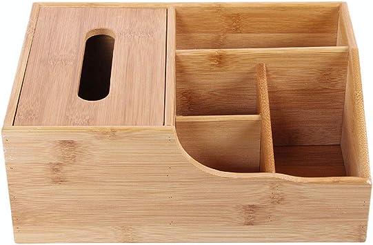 Soporte de madera para mandos a distancia con compartimentos, cajas de almacenamiento multifuncionales para escritorio, portalápices, tarjetas de visita, suministros de oficina, contenedor: Amazon.es: Bricolaje y herramientas