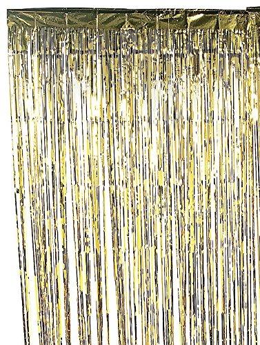 Metallic Gold Foil Fringe Curtain 3 Ft X 8 Ft Foil