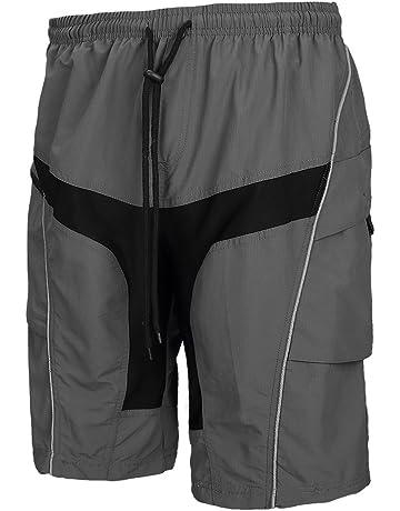 7e731a028 Santic Men s Cycling Shorts Loose-Fit 4D Padded Bike Bicycle MTB Mountain  Bike Shorts Grey