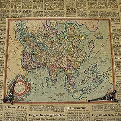 Navigation World Map.Amazon Com Ancient Map Navigation World Retro Nostalgic Kraft