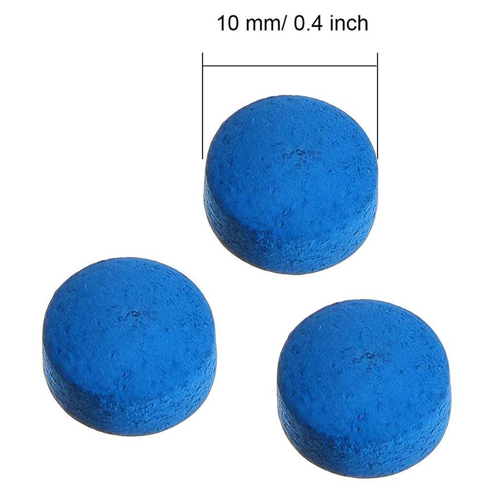 Anjing 20 St/ück Queue-Spitzen 10 mm Pool Billard Ersatzspitzen mit Aufbewahrungsbox blau