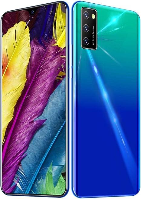 Smartphone Resistente V30 Pro, 6,5 Pulgadas HD Waterdrop Desbloqueado Celular 6 + 128GB, teléfono móvil Dual SIM Gratis a Prueba de Agua, teléfono móvil con Doble cámara, Azul-Verde: Amazon.es: Electrónica