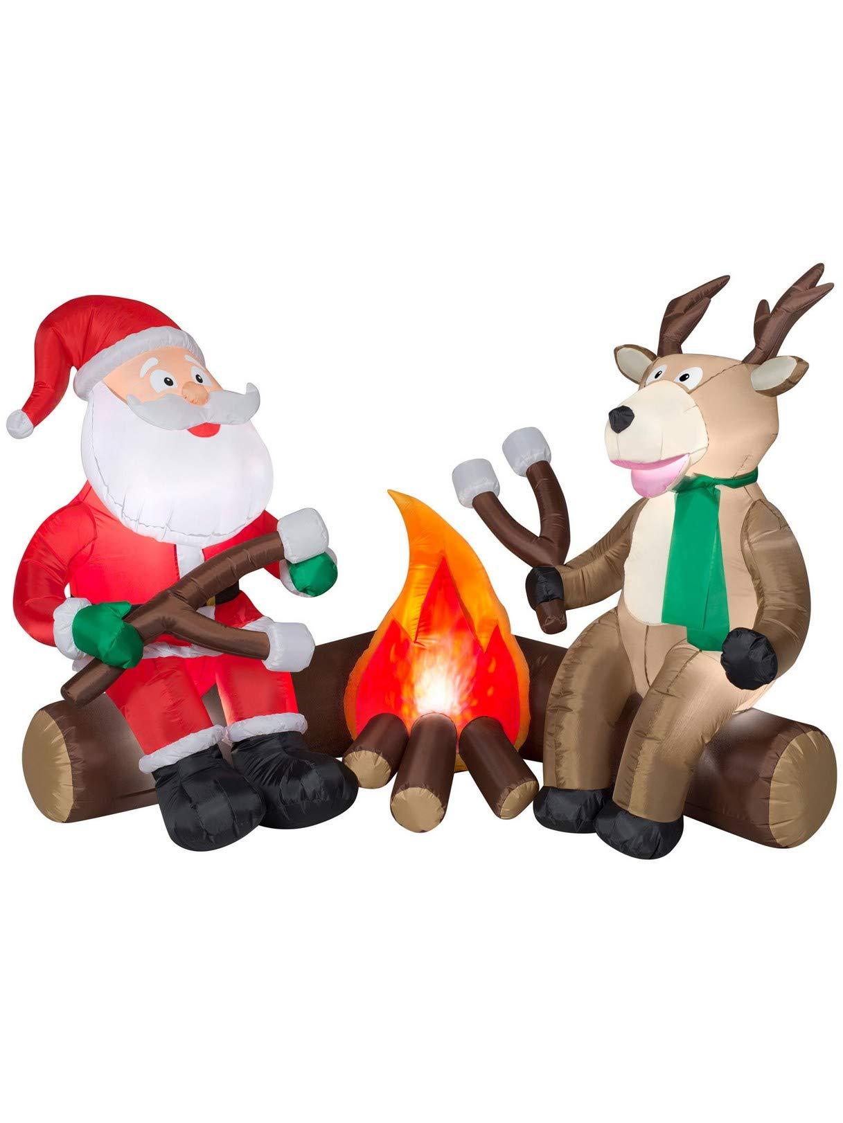Airblown Inflatables Santa Camping Scene
