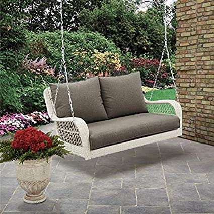 Amazon Com Better Homes And Gardens Colebrook Outdoor Porch Swing