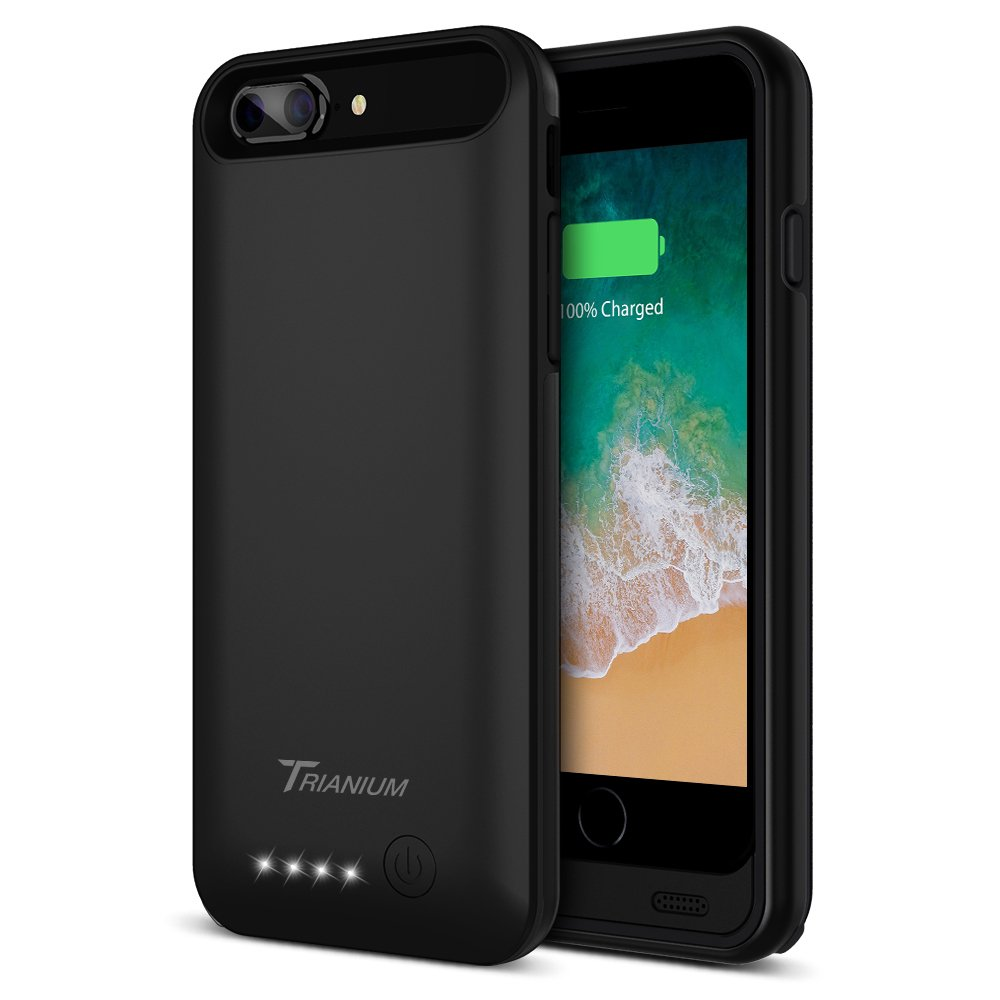 iPhone 8 Plus Battery Case, Trianium Atomic Pro iPhone 8 Plus Case Portable Charger [Black] 4200mAh Extended Battery Pack Power Juice Bank Case [Apple Certified Part] (Reinforced FRAME Upgrade) 4336627303