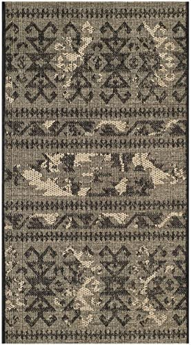 Safavieh Palazzo Collection PAL125-56C2 Black and Beige Area Rug 2 x 3 6