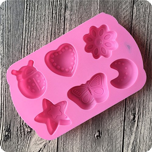 Hosaire 1 Pcs Insect Moon Shape Fondant Mould 3D Silicone Mould Decor Decorating Tools Cake Baking