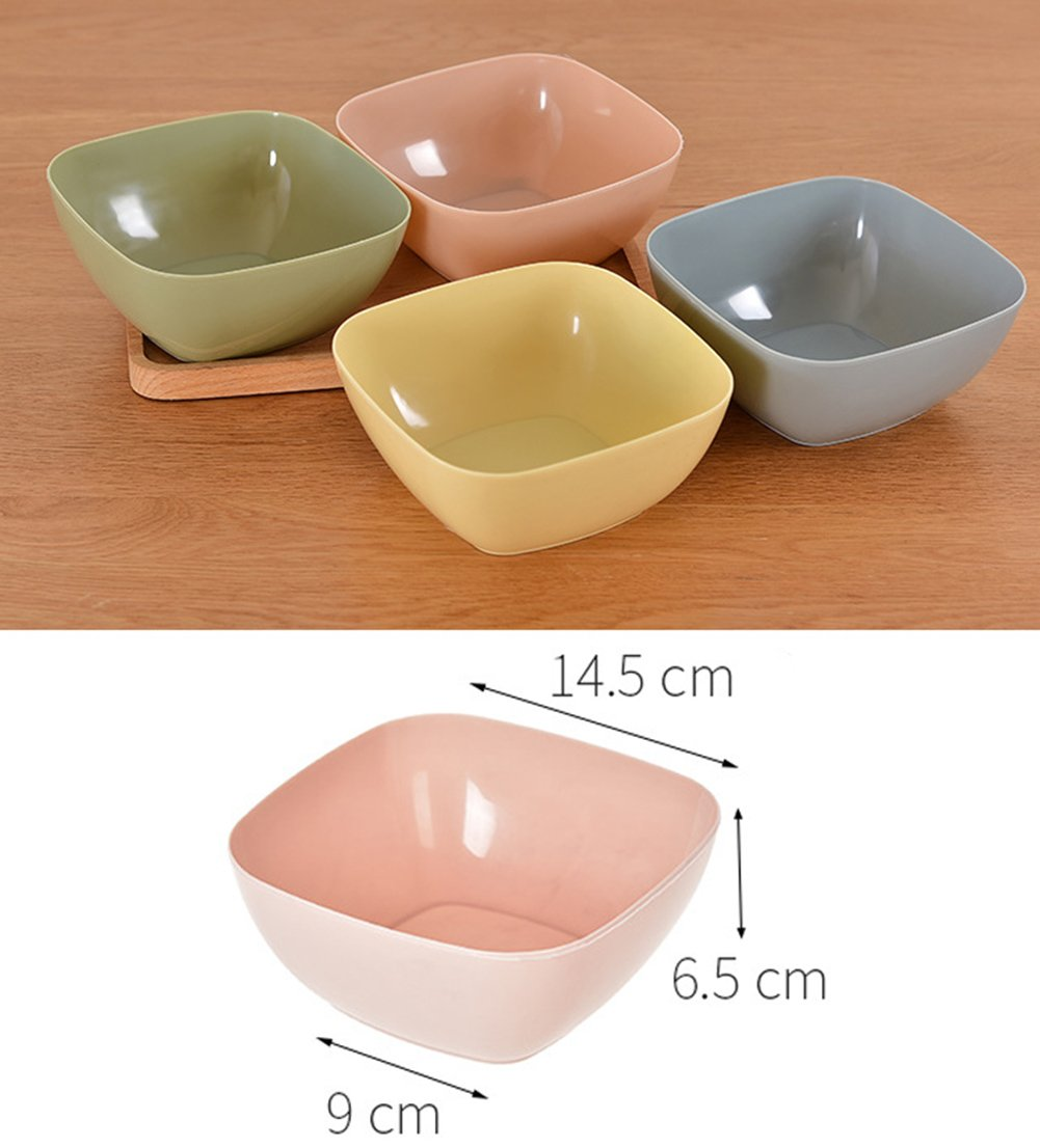 itemer cuadrado pl/ástico cuencos picnic cuenco helado cuenco ensalada cuenco de postre herramienta de cocina