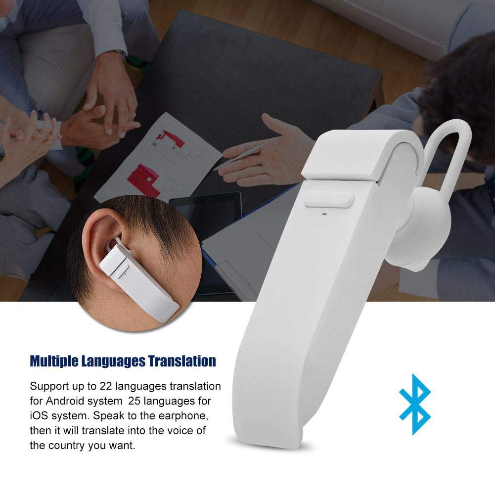 Multi-Language Translator Support 22 Languages Intelligent APP Online Translation Wireless Bluetooth Earphone White Peiko Smart Translator Bluetooth Earbuds