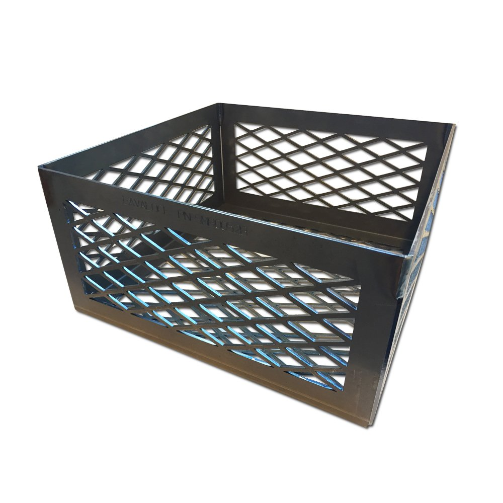 Total Control BBQ Charcoal Basket smoker pit (fire box) 12 x 12 x 6 B-B-Chef Brinkmann Char-Broil Chargriller New Braunsfel old country