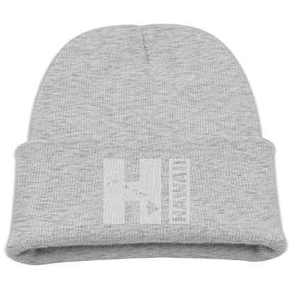 1beb2dedc90 Vintage Hawaiian Islands Unisex Kids Warm Winter Hat Knit Beanie Skull Cap  Cuff Beanie Hat Winter