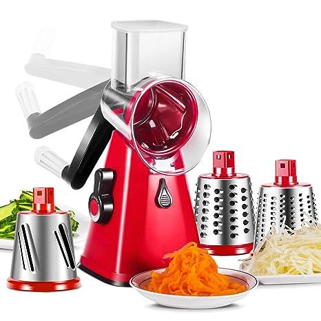 Amazon.com: Rallador de queso 3 en 1 Veggie Chopper Rallador ...