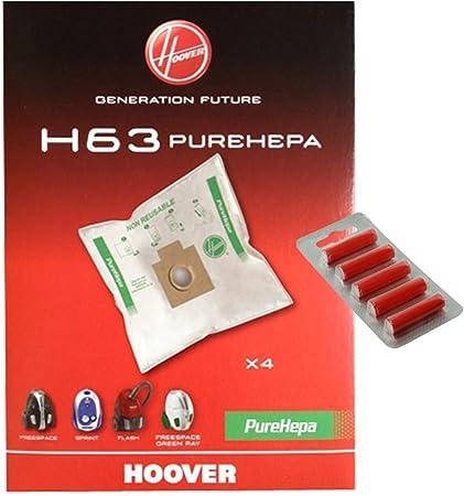 4 Sacchetti Hoover H63 PUREHEPA ORIGINALI