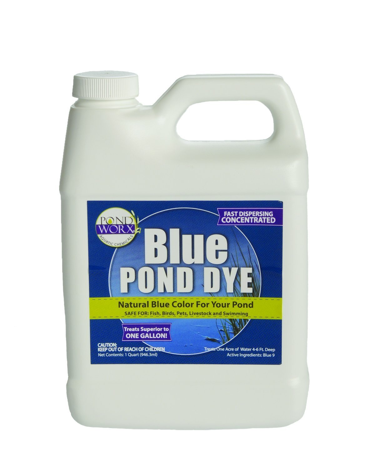 Pondworx Lake and Pond Dye - Blue Ultra Concentrated - 1 Quart by PondWorx