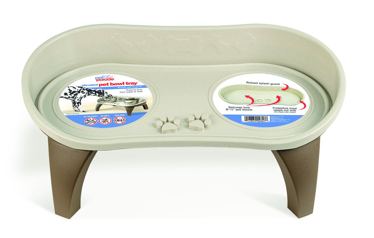 Pet Parade Elevated Pet Bowl Tray - For Cat & Dog