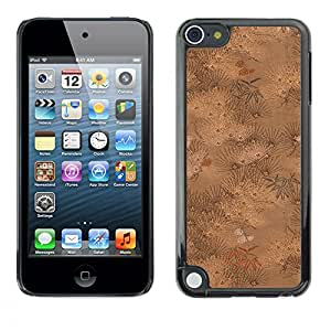 MOBMART Carcasa Funda Case Cover Armor Shell PARA Apple iPod Touch 5 - Leaves In The Brown Woods