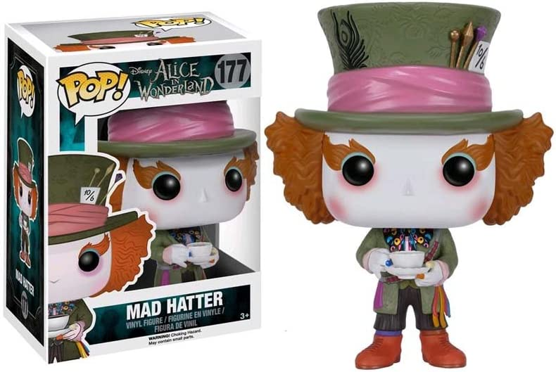 Unbranded Funko POP Disney Alice Mad Hatter Vinyl Bobble Action Figure 6709