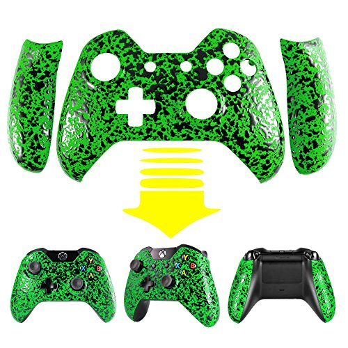 extremerater-anti-slip-textured-green-bulge-design-convex-granule-effect-faceplate-front-housing-she