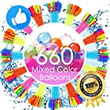 FEECHAGIER Water Balloons for Kids Girls Boys Balloons Set Party Games Quick Fill 660 Balloons 18 Bunches For Swimming Pool Outdoor Summer Fun 0701