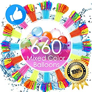 Water Balloons for Kids Girls Boys Balloons Set Party Games Quick Fill 660 Balloons 18 Bunches for Swimming Pool Outdoor Summer Fun LPL1