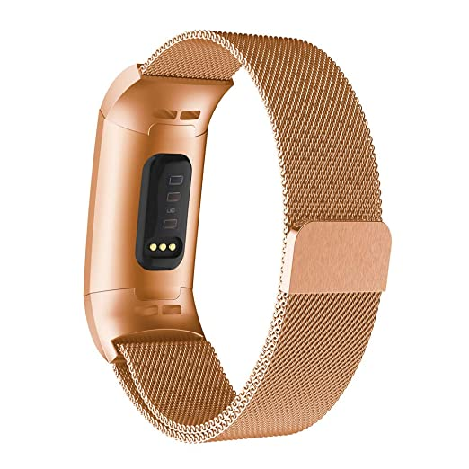 Amazon com: Fitbit Charge 3 Bands,Becoler Milanese Stainless Steel