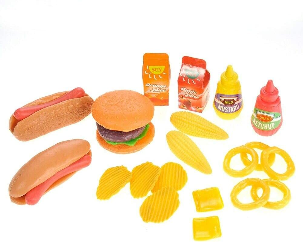 Exclusive CD Cyber Distributors Burger & Hot Dog Fast Food Cooking Play Set