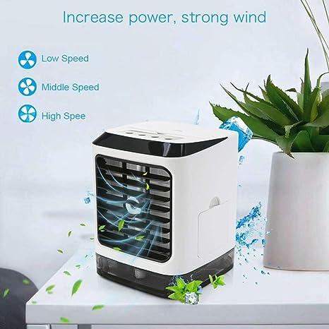 Zenghh Mini Ventilador de Aire Acondicionado, 4 en 1 USB Personal ...