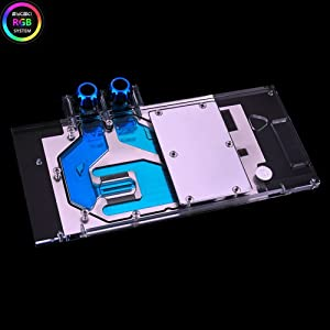 Bykski RGB Water Cooling Full-Cover GPU VGA Block for Graphic Video Card VGA EVGA GTX1080Ti Kingpin