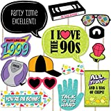 Big Dot of Happiness 90's Throwback – 1990's Party Photo Booth Props Kit – 20 Count