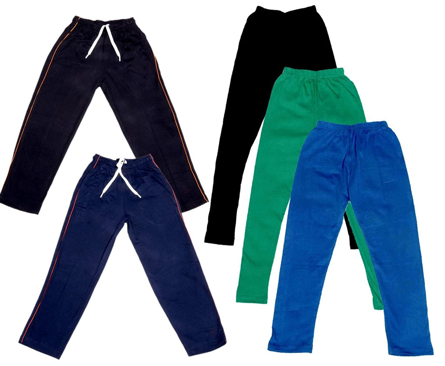 Pack Of 2 Indistar Girls Premium Cotton Full Length Lower//Track Pants//Pyjamas With 2 Open Pockets