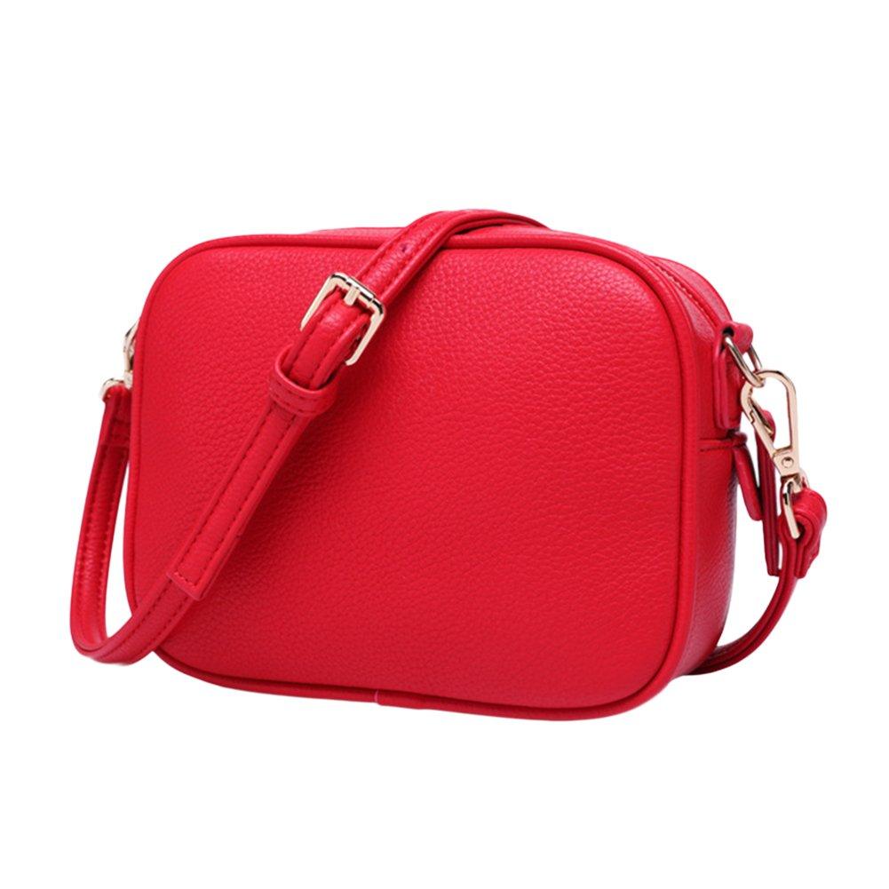 ShiningLove Mini Fashion Lady Shoulder Bag Simple Square Crossbody Bag Leather Messenger Satchel Bag